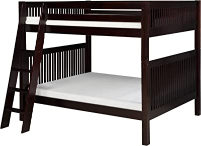 Camaflexi Mission Style Solid Wood Bunk Bed, Full-Over-Full, Side Angled