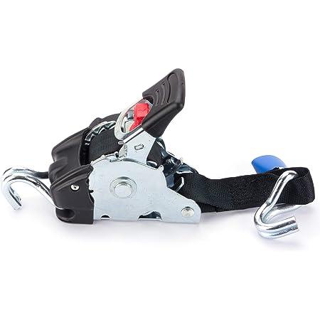 Marwotec Verbindungselemente 2 X Automatik Spanngurt Automatischer Zurrgurt 3 0m X 50mm 750dan 1500 Dan Selbstaufrollend Mit Spitzhaken Auto