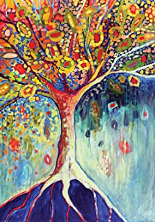 Toland Home Garden Tree of Life 28 x 40 Inch Decorative Colorful Fall Multicolor Earth Root House Flag