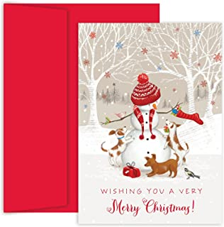 Masterpiece Studios Holiday Collection 18 Cards / 18 Envelopes, Snowman & Friends