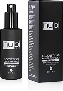 Nubi Boosting Hair Serum with Marula Oil, Vitamin E and Aloe Vera, 2 Fl. Oz./ 60 Ml