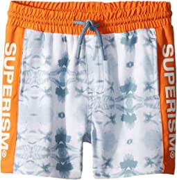 SUPERISM - Brees Superism Print Swim Shorts (Toddler/Little Kids/Big Kids)