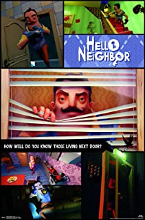 Trends International Hello Neighbor - Collage Wall Poster, 22.375