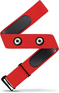 Heart Rate Monitor Soft Strap Replacement   Universal Replacement for Mo-Fit, and Most Garmin, Polar, and Wahoo HRM Transmitters (Red, M-XXL)