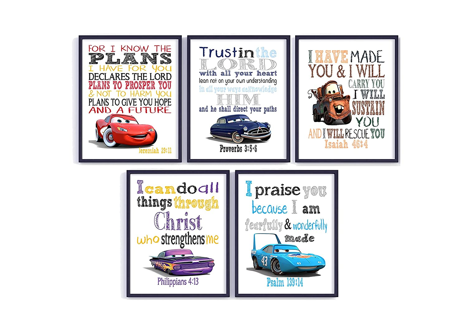 Cars Christian Nursery Set New product type Some reservation of Prints McQue Lightning Unframed 5