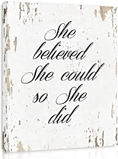 She Believed She Could So She Did – FRAMED – Quote Motivational Wall Art..