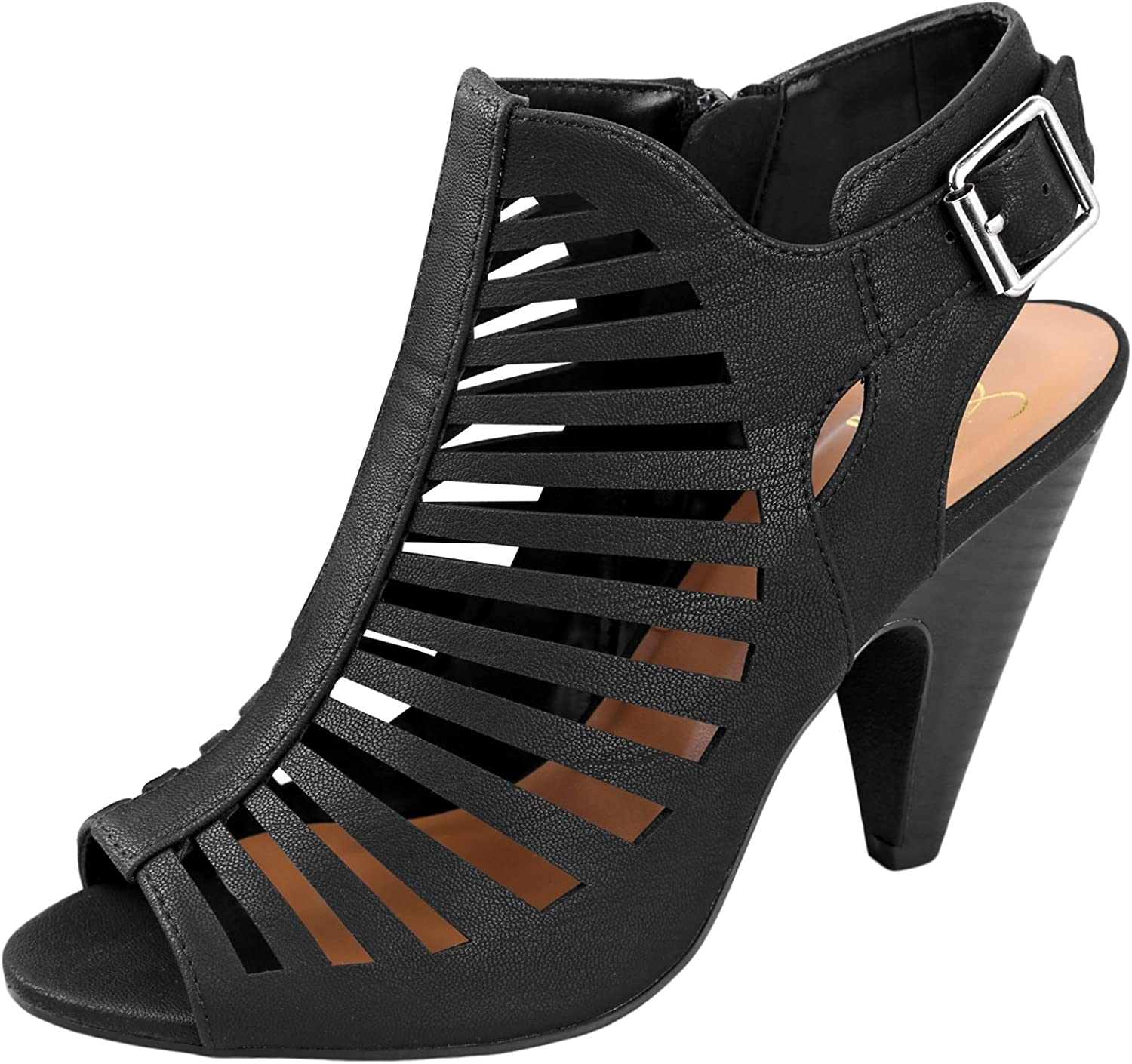 My Delicious shoes Women's Shaky Synthetic Dress Black