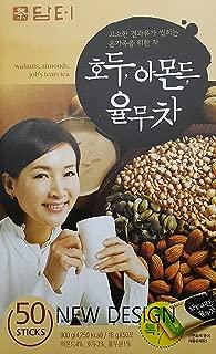 DAMTUH Walnut Almond Adlay Tea (Job's Tear), All Natural Tea Powder, 50 Sticks