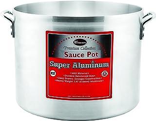 Winco USA Super Aluminum Sauce Pot, Extra Heavy Weight, 40 Quart, Aluminum