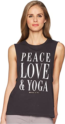 Spiritual Gangster Peace Love Yoga Tank Top