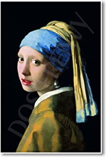 Girl with a Pearl Earring 1665 - Johannes Vermeer - NEW Fine Arts Poster