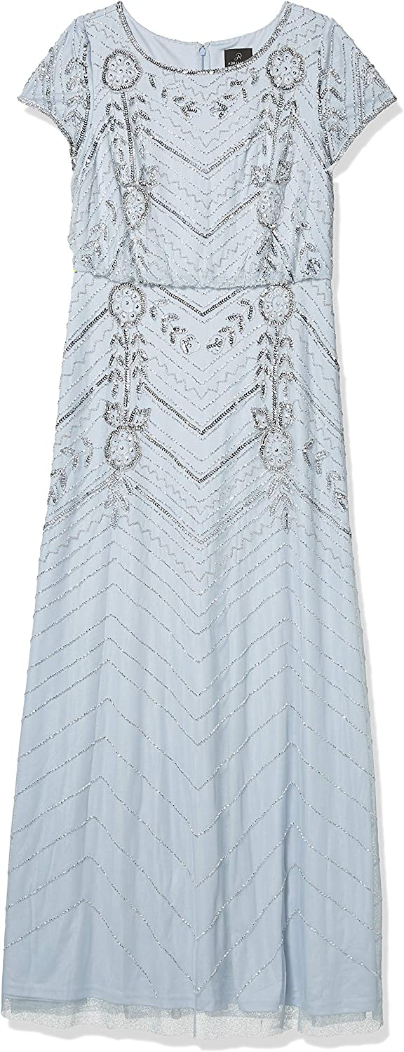 Adrianna Papell Women's Long Beaded Gown