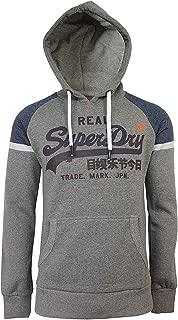 Superdry Men's Vintage Logo Raglan Pullover Hoodie, Grey