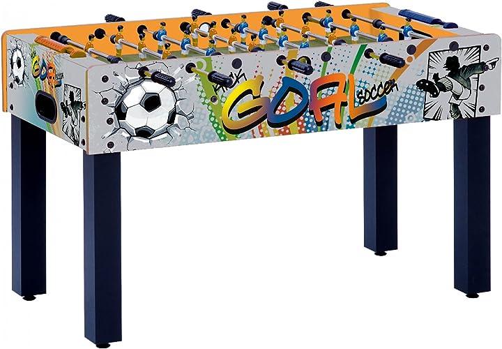 Calcio balilla garlando f-1 con grafica goal con aste rientranti multicolore B00IRE2GU8