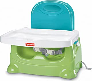 Fisher-Price - Asiento elevador de cuidado saludable, color verde/azul