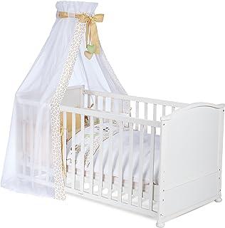 Best For Kids Deluxe Gitterbett 60x120 Babybett My Sweet Baby Bärchen braun weiß