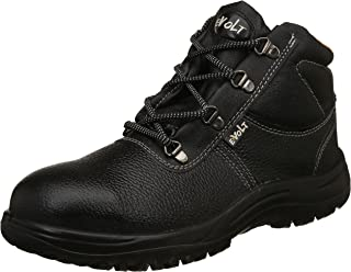 E-Volt Metal High Ankle Safety Shoe 82221, ISI Marked for IS 15298 Pt-2, Steel Toe Cap for 200 Joules, Size 7, BLACK