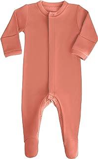 orange footie pajamas baby