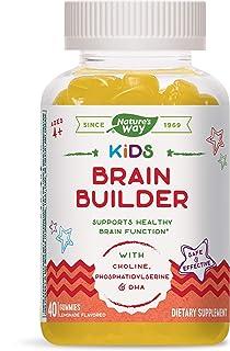 Nature's Way Nature's Way Kids Brain Builder, Supports Healthy Brain Function*, Flavored, Vegetarian Gummies Lemonade 40 C...