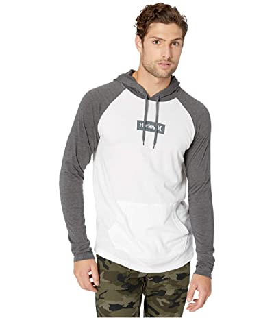 Hurley Premium One Only Box Pullover (Black Heather/White) Men