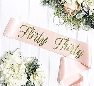 Flirty Thirty Birthday - 30th Birthday Sash - Sunset Blush & Gold
