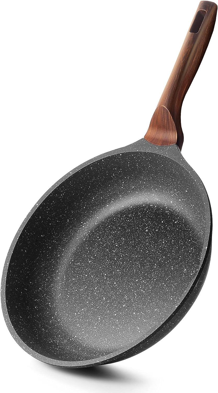 ilimiti Sartenes Induccion Antiadherentes 22 cm, Sarten Piedra Aluminio Fundido, Libre de PFOA, Apta para Todo Tipo de Cocina