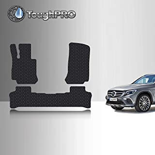 TOUGHPRO Floor Mat Accessories Set (Front Row + 2nd Row) Compatible with Mercedes-Benz GLC - All Weather - Heavy Duty - (Made in USA) - Black Rubber - 2016, 2017, 2018, 2019, 2020, 2021