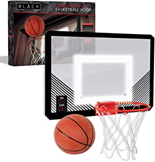 The Black Series LED Light-Up Basketball 18 Inch Hoop Sports Game with Mini Ball for Indoor/Outdoor Play During The Day or...