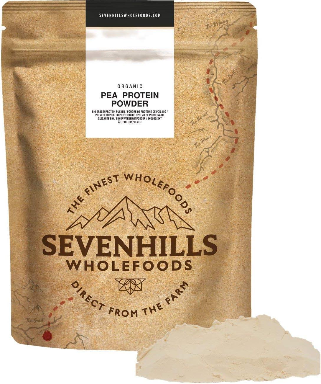 Sevenhills Wholefoods Polvo De Proteína De Guisante Crudo Orgánico 500g