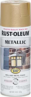 Rust-Oleum 286524-6PK Stops Rust Paint, 6 Pack, Warm Gold, 6 Pack