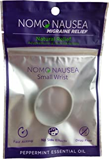 NoMo Migraine Band. Migraine Headache Relief. Small Size Purple Adults (wrist 3.5-6.2''). Relief for migraine nausea with Peppermint Aromatherapy and Acupressure. MIGRAINE RELIEF HEADACHE RELIEF