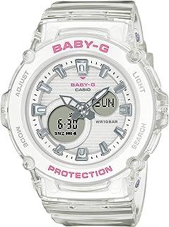 كاسيو BABY-G للنساء - انالوج بسوار شفاف بسوار راتنج - BGA-270S-7ADR