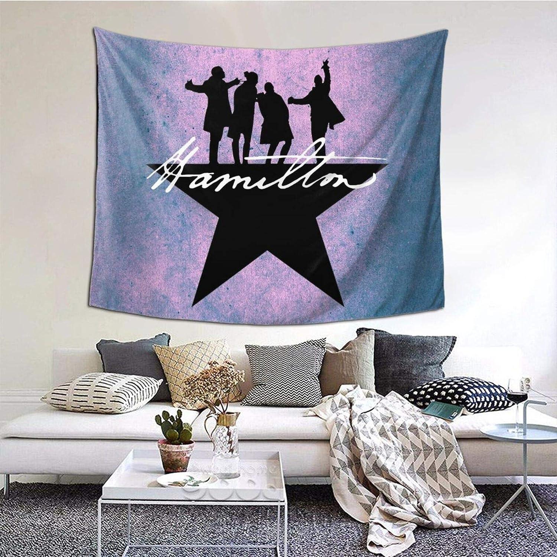 NEW before selling HOKAMI Hamilton Tapestry The Musical 51 60 x B Hanging inch Tulsa Mall Wall