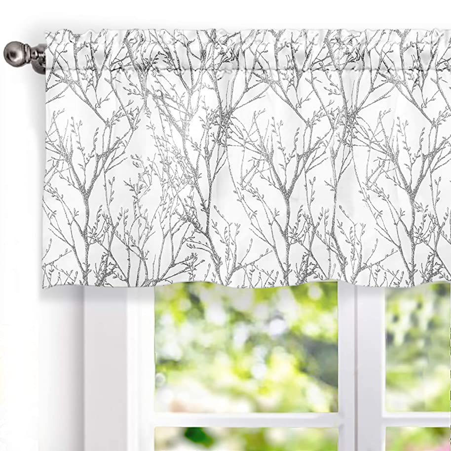 DriftAway Tree Branch Botanic Pattern Lined Window Curtain Valance,52