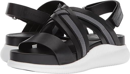 Black Leather/Webbing/Optic White