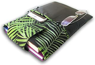 Book Sleeve Cover - Leaf Pattern, Hard Books Cover for Paperback, Washable Fabric, Book Protector- Padded, Tablet Pc Case ...