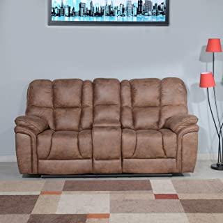 @home by Nilkamal Dubai 2 Seater Manual Recliner with Console (Brown)