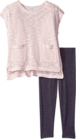 Splendid Littles - Loose Fit Pockets Sweater Set (Little Kids)