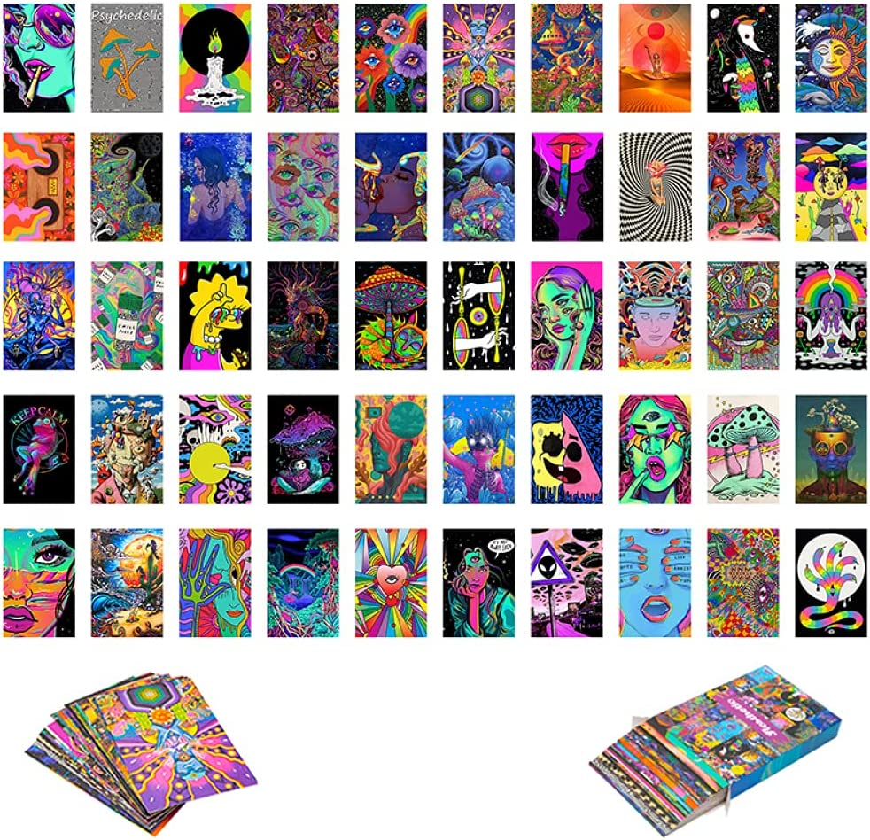 Richthebabe 50 piezas Shippie Trippy Drippy Drippy Photos Aesthetic Wall Collage Kit Bedroom Decor Prints Wall Pictures for Living Room Dorm Posters