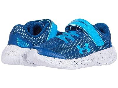 Under Armour Kids Pursuit 2 (Little Kid) (Graphite Blue/White/Electric Blue) Boys Shoes