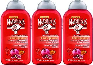 """Le Petit Marseillais - Shampoo """"Eclat Couleur"""", set di 3 flaconcini da 250 ml, effetto colore brillante, all'olio di argan..."""