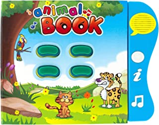 Boxiki kids Animal Learning Sound Book Activity Book for Toddlers and Early Baby Development. Electronic Animal Book: Play...
