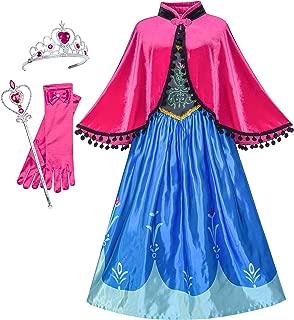 Princess Dress Anna Costume Accessories Crown Magic Wand Size 5-12