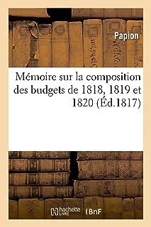 memoire sur le budget