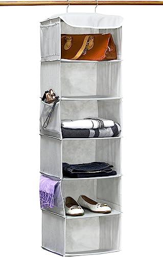 popular SimpleHouseware Hanging 2021 Closet Organizers Storage, popular 6 Shelves, Gray online sale