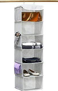 Simple Houseware 6 Shelves Hanging Closet Organizer, Gray