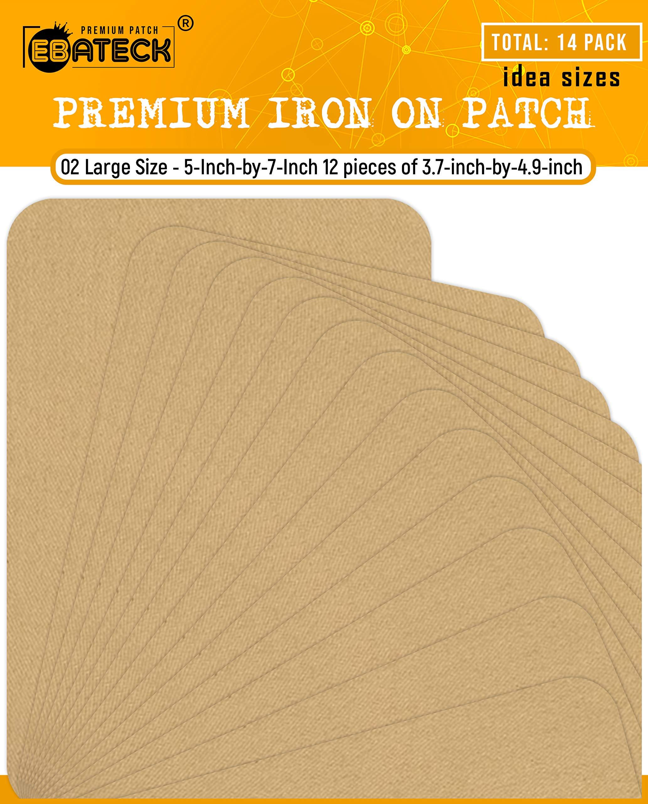 Wrights 230008091B Bondex Iron-On Patches 5X7 2//Pkg-Beige