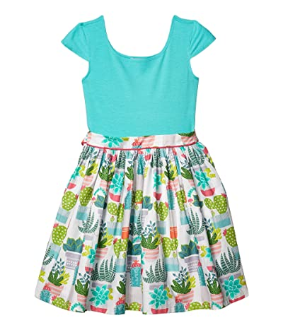 fiveloaves twofish Maddie Cactus Dress (Little Kids/Big Kids) (Turquoise) Girl