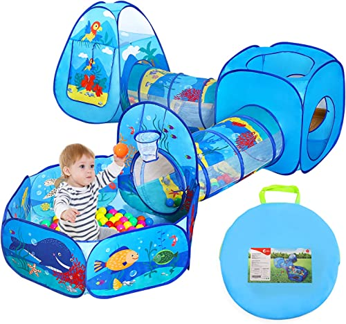 popular 5 PCS Ball Pit Tunnels and Play Tent for Toddlers, Baby Indoor Playground online for Kids, Boys and Girls popular (Balls Not Included) sale