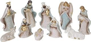 Creative Co-op 10 Piece Crackled Stoneware Nativity
